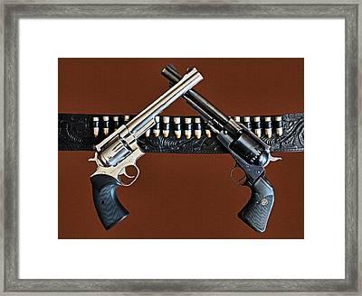 Guns Ruger Old And New Framed Print