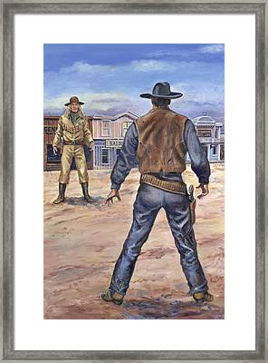 Gunslingers Framed Print