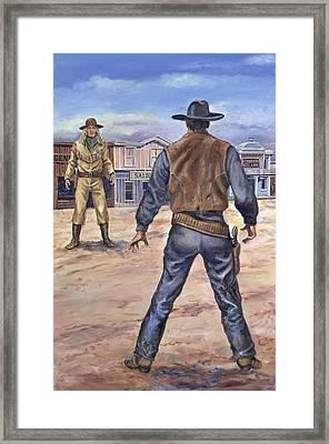 Gunslingers Framed Print