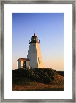 Gurnet Point Lighthouse Framed Print by Roupen  Baker