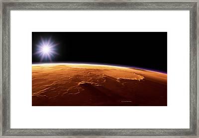 Gusev Crater, Mars, Artwork Framed Print