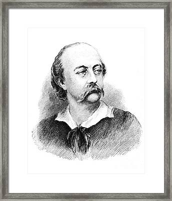 Gustave Flaubert, French Author Framed Print by Photo Researchers