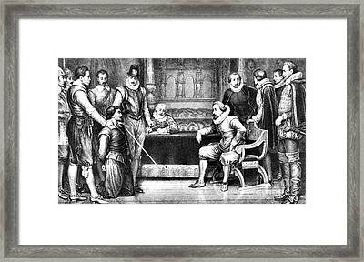 Guy Fawkes, English Soldier Framed Print by Photo Researchers