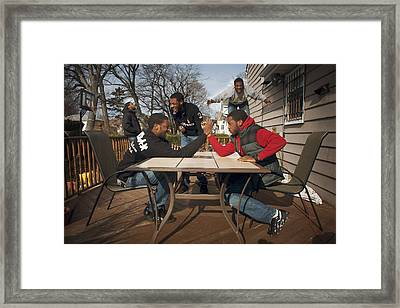 Guy Time Framed Print