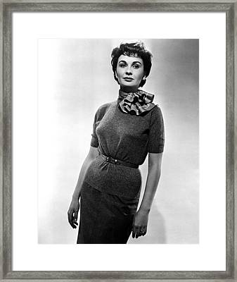 Guys And Dolls, Jean Simmons, 1955 Framed Print