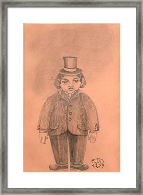 Guzzy Framed Print by Rachel Hershkovitz