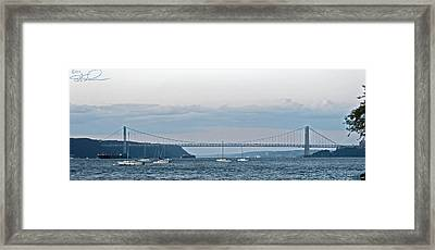 Gwb Sunset Framed Print