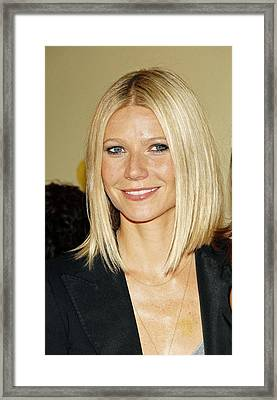 Gwyneth Paltrow At Arrivals Framed Print by Everett
