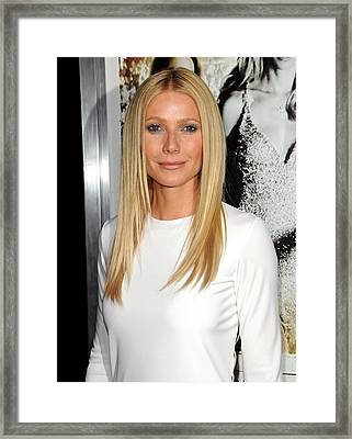 Gwyneth Paltrow At Arrivals For Country Framed Print by Everett