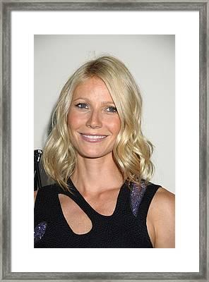 Gwyneth Paltrow In Attendance Framed Print by Everett