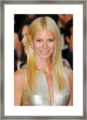 Gwyneth Paltrow Wearing Louis Vuitton Framed Print by Everett