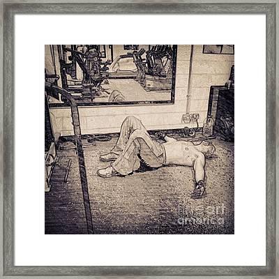 #gym #sport #relax #1stangel Framed Print