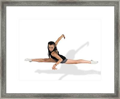 Gymnast Does The Splits  Framed Print by Ilan Rosen