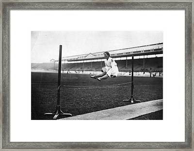 Gymnastic Jump Framed Print by Topical Press Agency