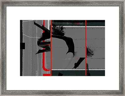 Gymnastics Framed Print by Naxart Studio