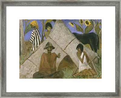 Gypsy Encampment Framed Print by Otto Muller or Mueller