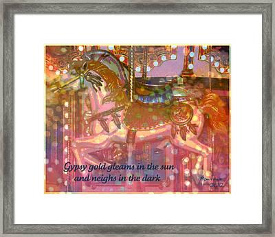 Gypsy Gold Framed Print by Poni Trax