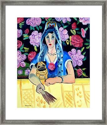 Gypsy Pug Framed Print