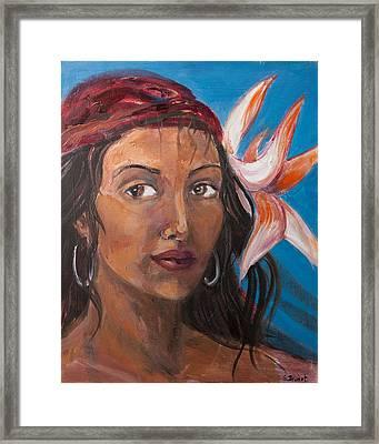 Gypsy Framed Print by Sophie Brunet
