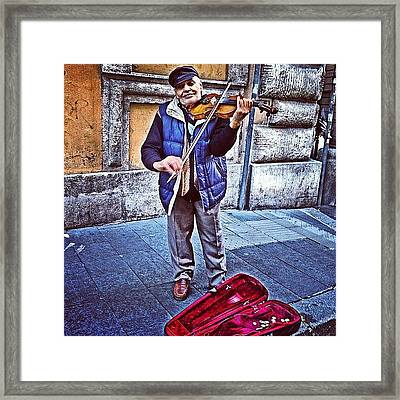 Gypsy Violin #travel #violin #gypsy Framed Print