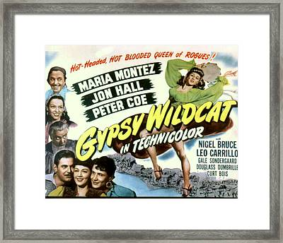 Gypsy Wildcat,  Top Left Leo Carillo Framed Print
