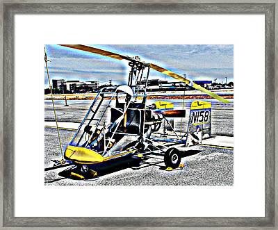 Gyrocopter Framed Print by Samuel Sheats