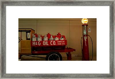 H And G Oil Company Framed Print