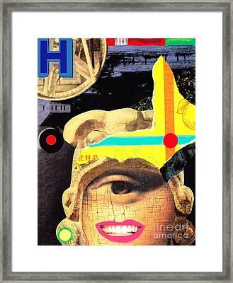 'h Collage Framed Print