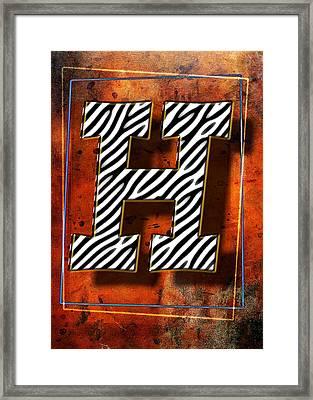 H Framed Print by Mauro Celotti