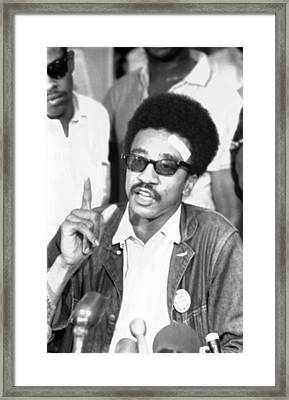 H. Rap Brown, Chairman Of The Student Framed Print by Everett
