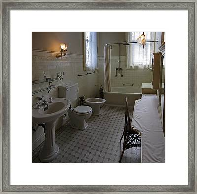 Haas Lilienthal House Victorian Bath - San Francisco Framed Print by Daniel Hagerman