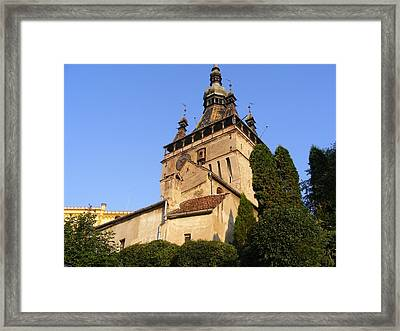 Framed Print featuring the photograph Habited Medieval City by Bogdan Floridana Oana