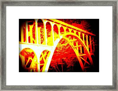 Haceta Head Bridge In Abstract Framed Print
