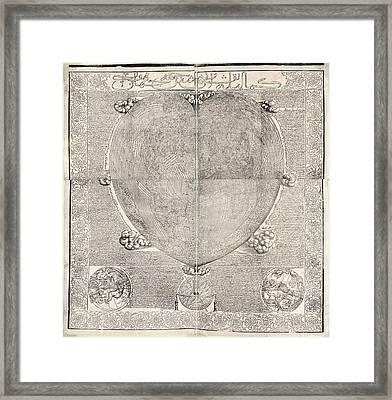 Haci Ahmed's World Map, 1560 Framed Print