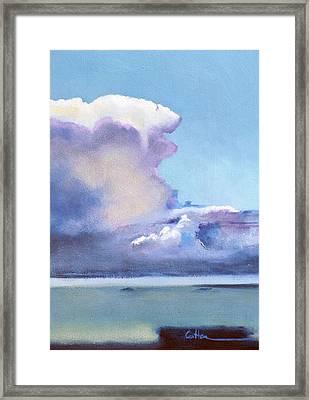 Hacia Culebra Framed Print by Diane Cutter