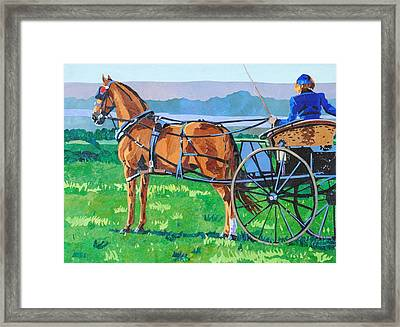 Hackney With Dog Cart Framed Print by Alyson Champ