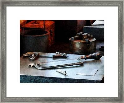 Hacksaw Framed Print by Susan Savad