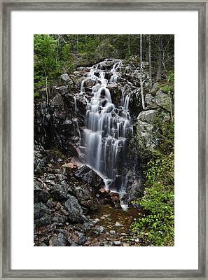 Hadlock Falls Acadia Framed Print
