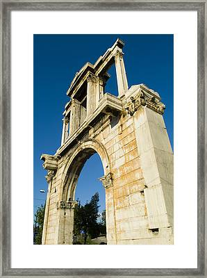 Hadrians Arch In Athens, Greece Framed Print by Richard Nowitz