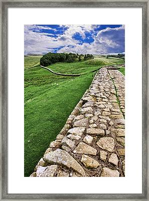 Hadrian's Wall Framed Print by Wendy White