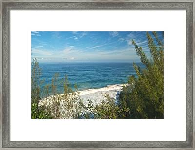 Haena State Park Overview Framed Print by Michael Peychich
