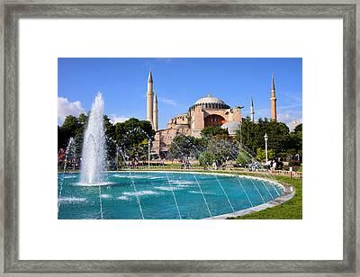Hagia Sofia In Istanbul Framed Print