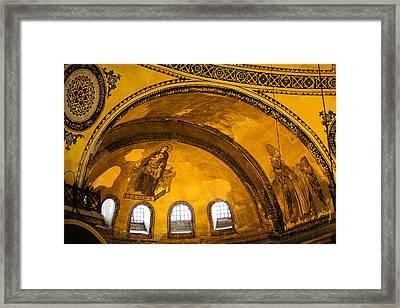 Hagia Sophia Architectural Details Framed Print by Artur Bogacki