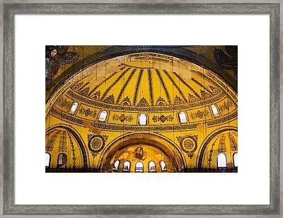 Hagia Sophia Architecture Framed Print by Artur Bogacki