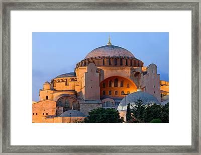 Hagia Sophia At Dusk Framed Print
