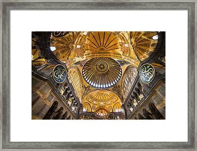 Hagia Sophia Byzantine Architecture Framed Print by Artur Bogacki