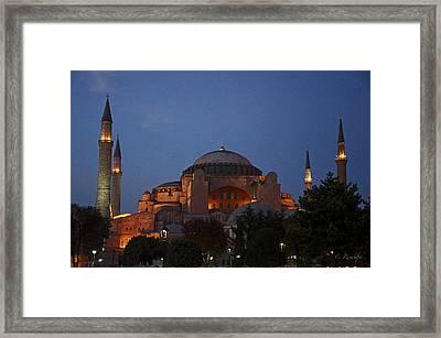 Hagia Sophia Framed Print by Cheri Randolph