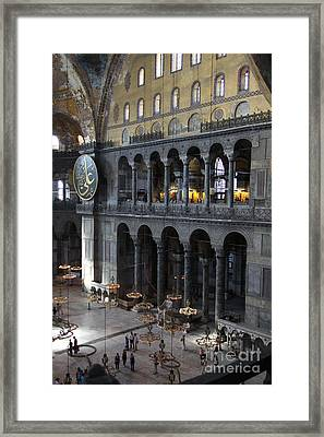 Hagia Sophia Interiour I Framed Print by Christiane Schulze Art And Photography