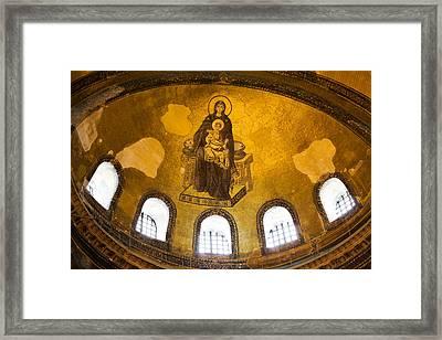 Hagia Sophia Mosaic Framed Print by Artur Bogacki