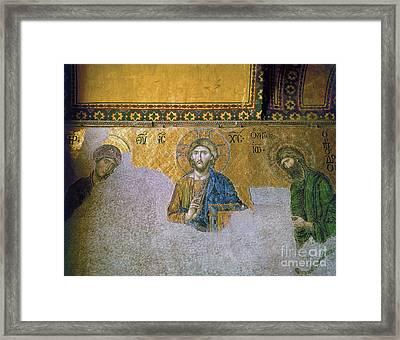 Hagia Sophia: Mosaic Framed Print by Granger